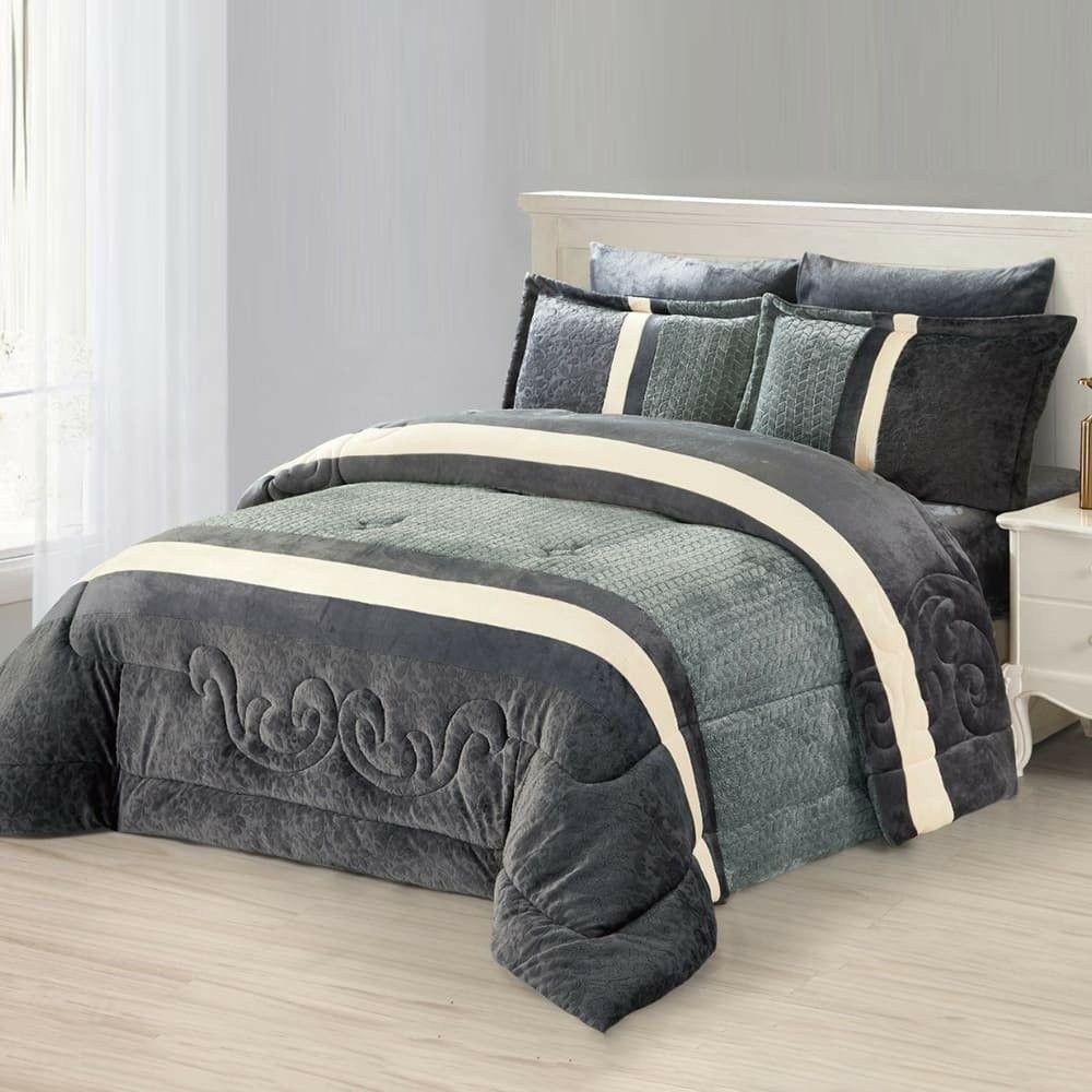 مفرش شتوي مفرد ونص 4 قطع فلوري Home Decor Furniture Bed