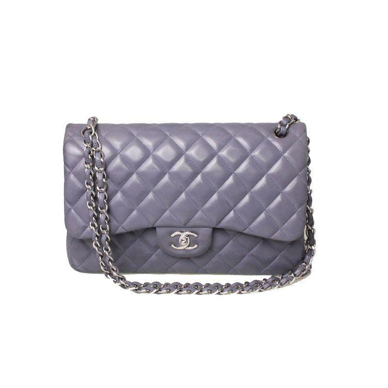Chanel Jumbo In Grey Lambskin M22 Station Granville Rd Chanel Jumbo Shoulder Bag Chanel