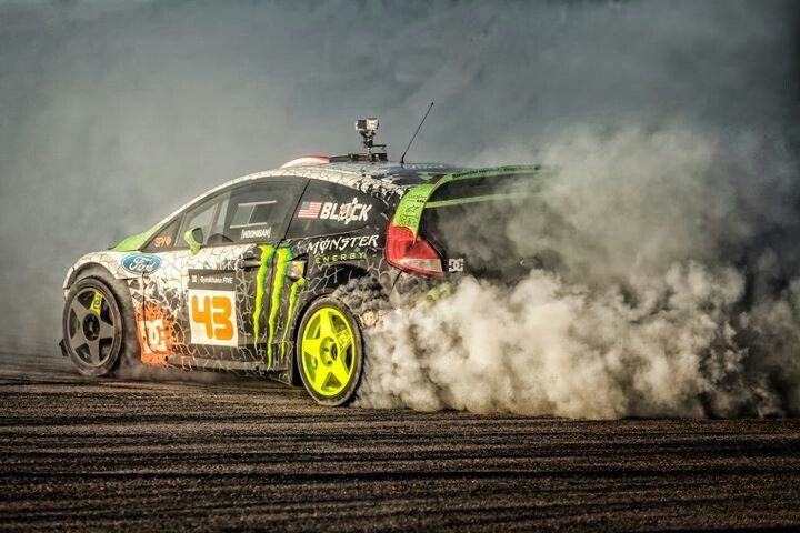 Ken Block literally drives his car so hard that he bares the tires down just to the rim.......then keeps driving. #kenblock