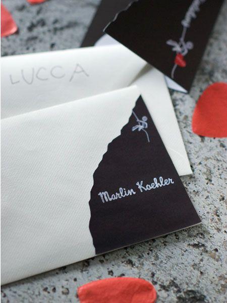 Einladungskarte: Kindergeburtstag: Kletterparty Mit Herz