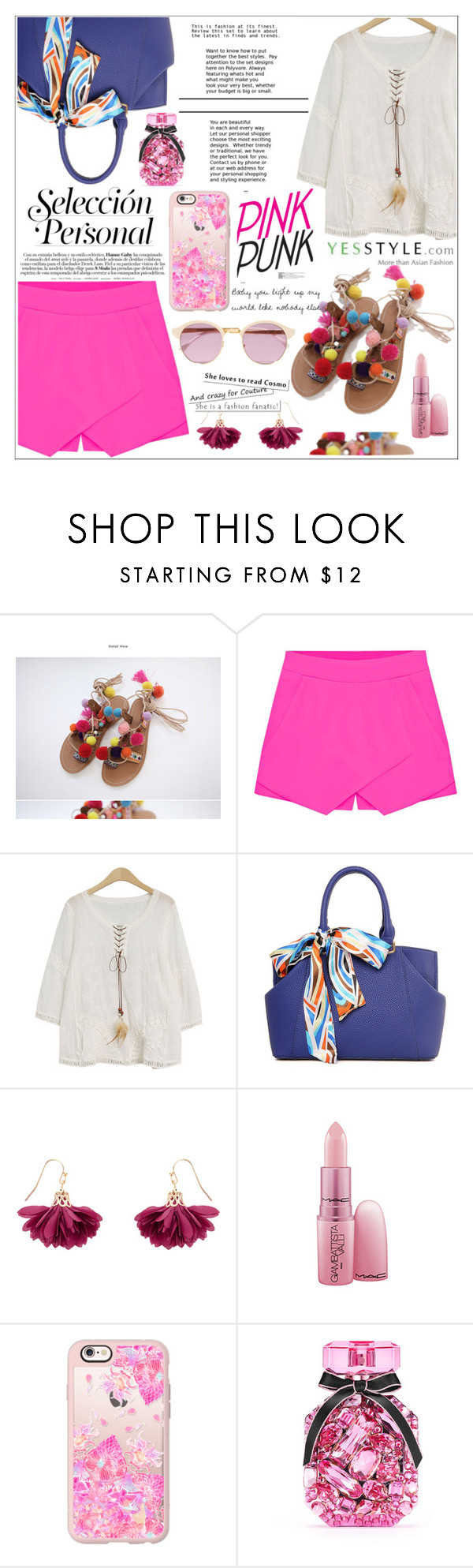 """""""YesStyle Contest ♥"""" by av-anul ❤ liked on Polyvore featuring Eloqueen, Goroke, Accessorize, MAC Cosmetics, Casetify, Victoria's Secret, Sheriff&Cherry, Summer, sandals and yesstyle"""