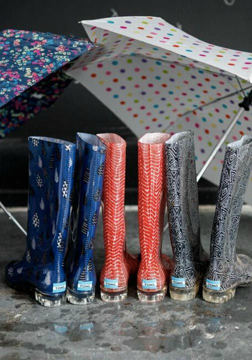 750fe0c974f Make your transition from summer to fall easier with a pair of TOMS  Cabrilla Rain Boots.