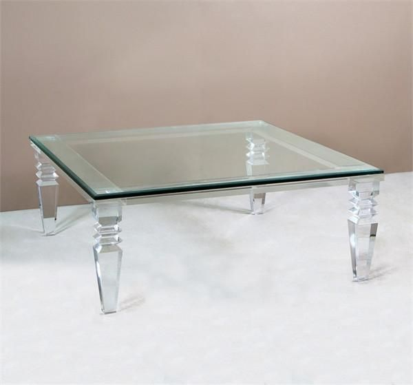 Acrylic And Glass Give The Classic Design Of This Cocktail Table A Clearly Bold Modern Square Cocktail Table Oversized Coffee Table Cocktail Tables