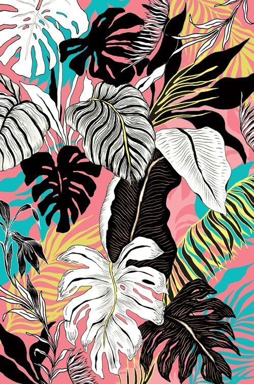 tropical leaves pattern #tropicalpattern