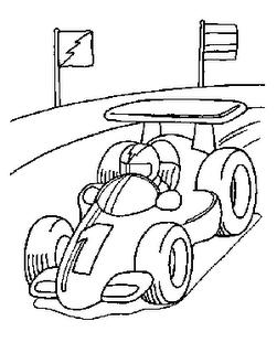 Auto De Formula 1 Para Colorear Colorear El Dibujo Dibujos De Autos Coches De Carreras Libro De Colores