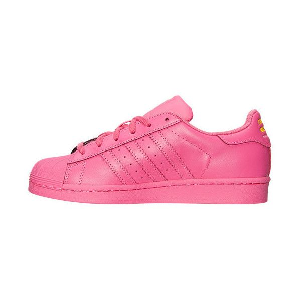 Girls  Grade School adidas Superstar x Pharrell Williams Supercolor...  ( 75) ❤ liked on Polyvore featuring shoes 0070d6b4b0b6