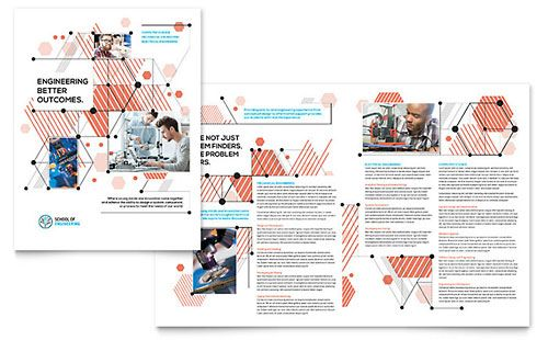 Medical Research Brochure Template Design StockLayouts - BLOCKS - free brochure templates microsoft word