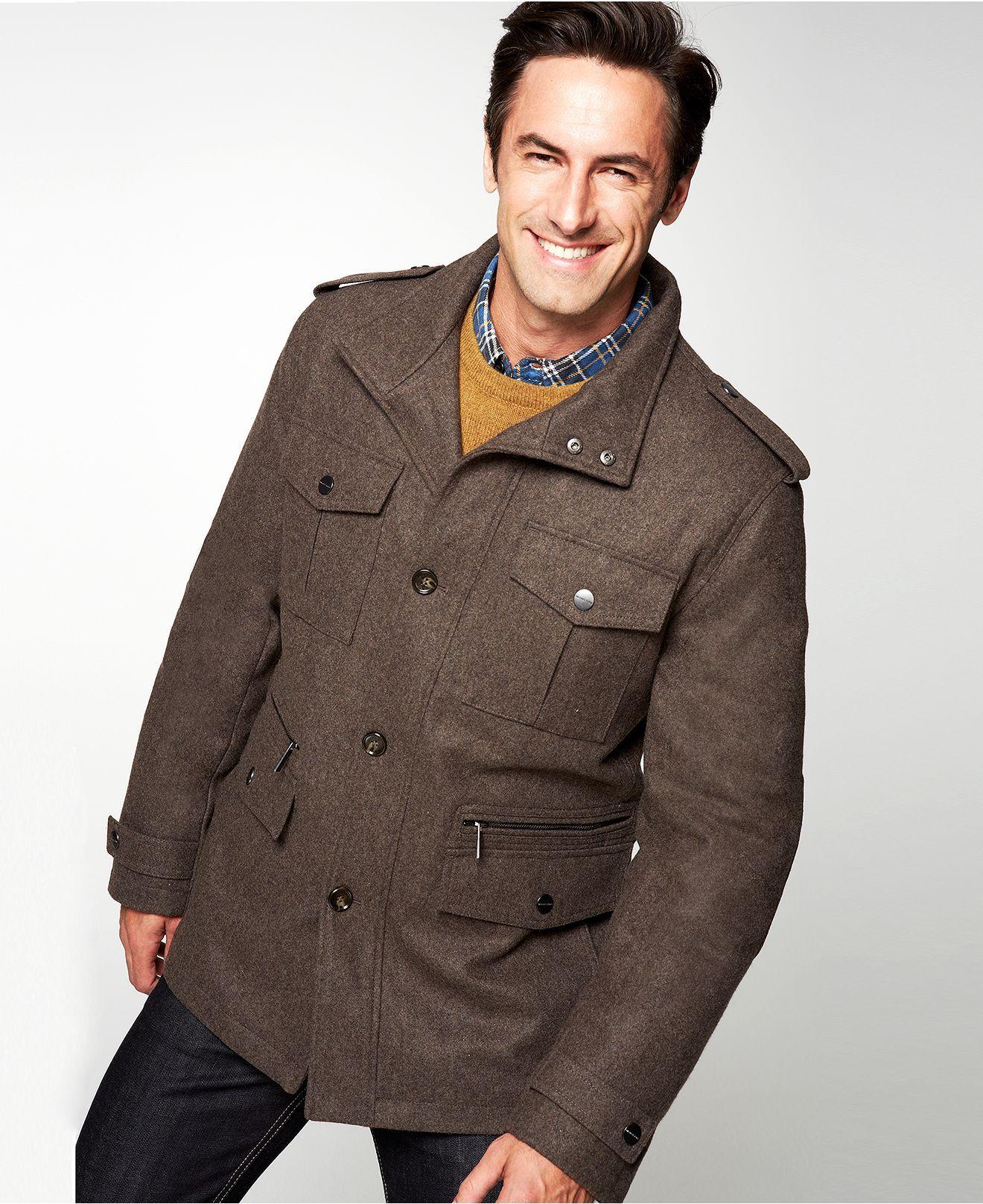Michael Michael Kors Jacket Breckenridge Wool Blend Field Coat Coats Jackets Men Macy S Field Coat Michael Kors Jackets Coat [ 1616 x 1320 Pixel ]