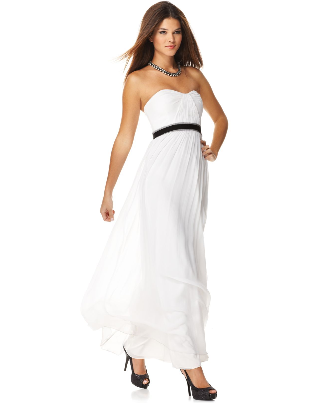 BCBGMAXAZRIA Dress, Strapless Empire Waist Evening Gown