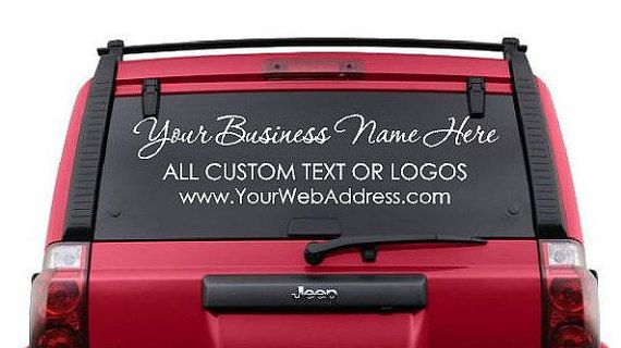 Customised Car Window Decals
