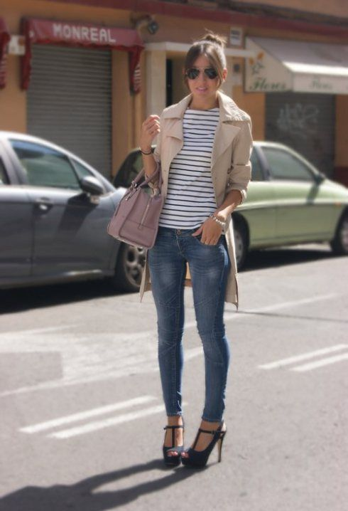Jeans Para La Oficina Ropa Ropa Casual Combinaciones De Ropa