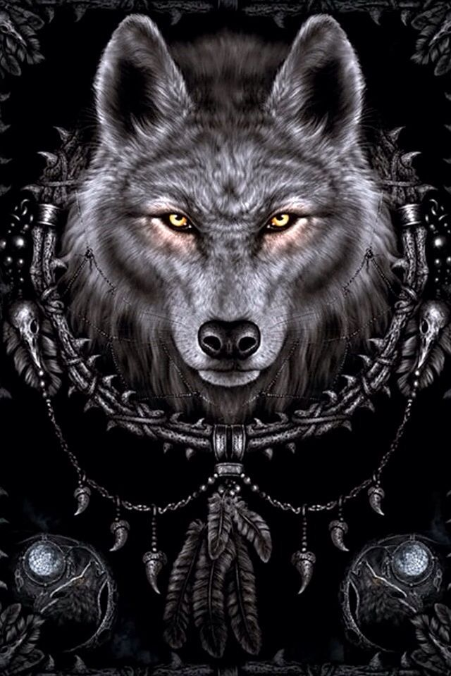 My Iphone Wallpaper Loup Dessin Loup Fantasy Art Sur Les Loups