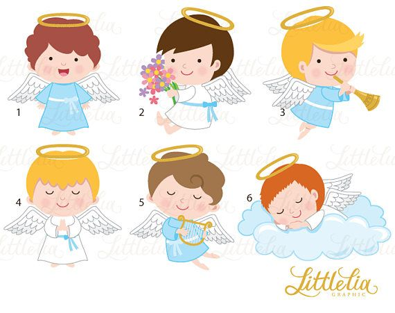 Angels clipart - angel boys clipart - 17050   Products ...