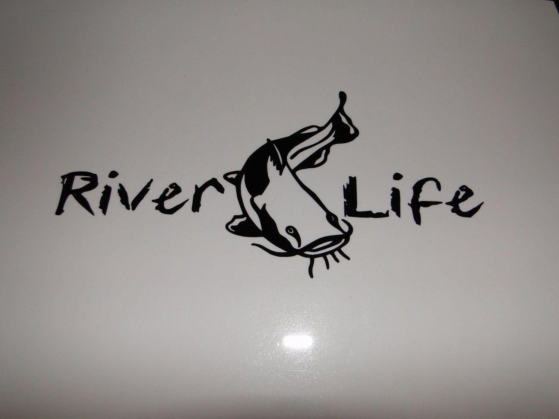 River Life Decal For Car Truck Window Glass Rv Camper Kayak Boat Golf Cart Etc Kayak Fishing Kayaking River Life [ 1125 x 1500 Pixel ]