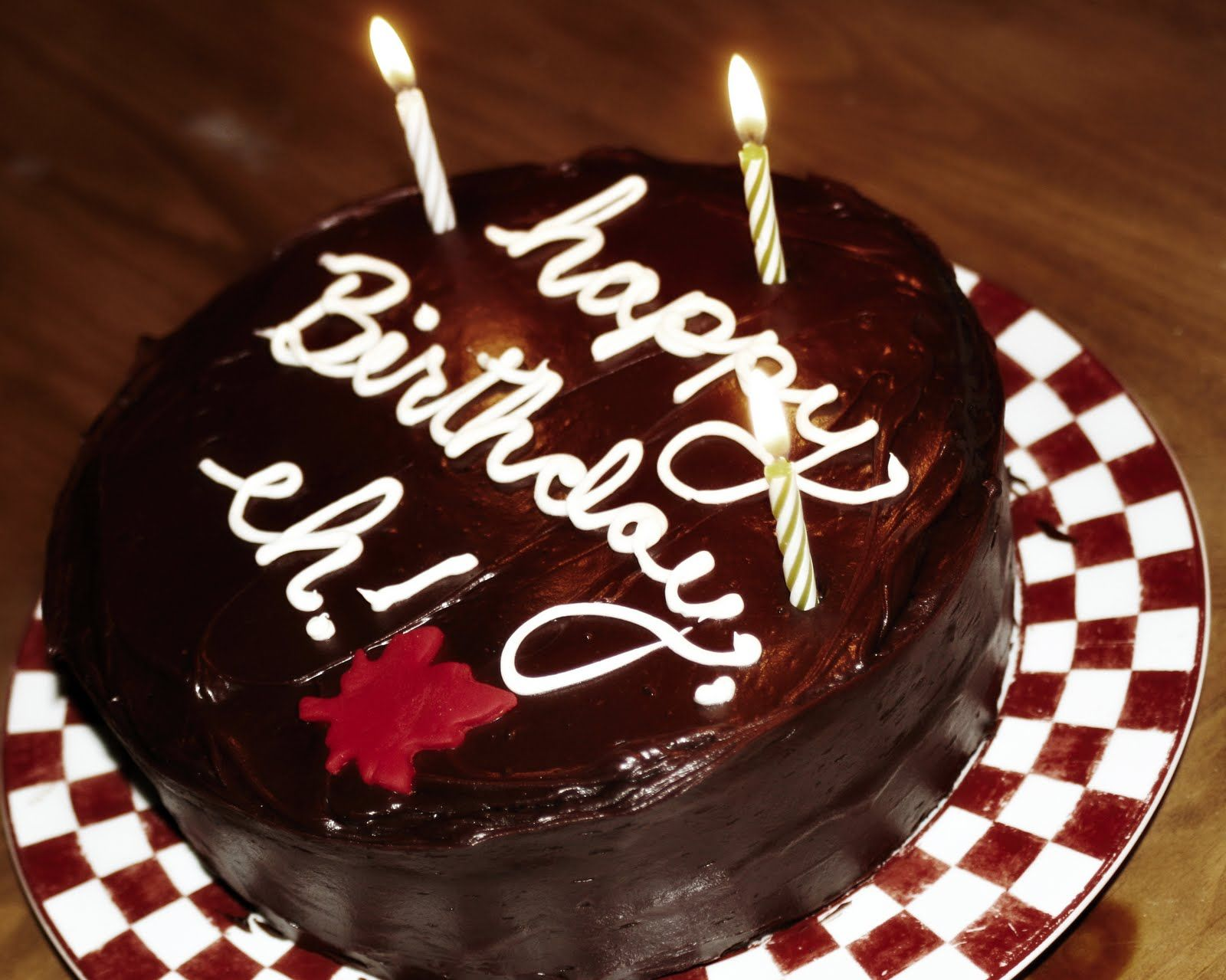 Happy Birthday Chocolate Cake with Candles 24870walljpg HD