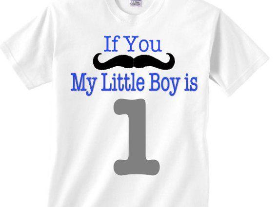 Boy Mom Shirt Adult Mustache Birthday
