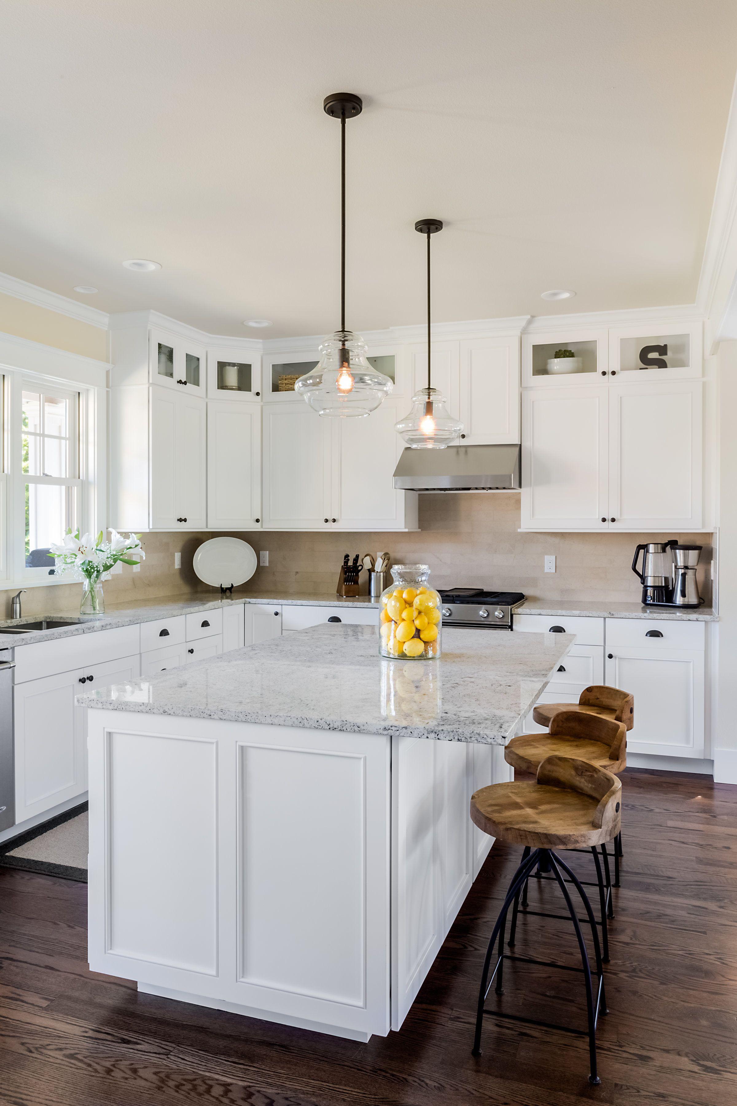 Craftsman Style White Kitchen Kitchen Remodel Craftsman Kitchen