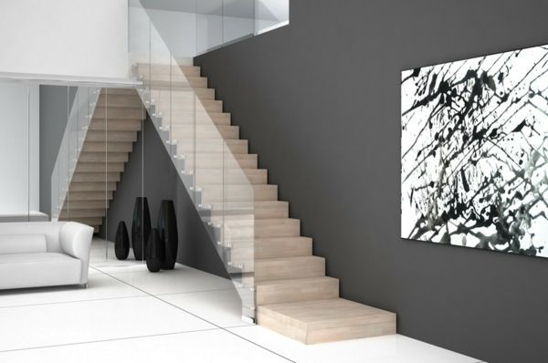 moderne treppen - Google Search | Steps | Pinterest | Glasgeländer ...