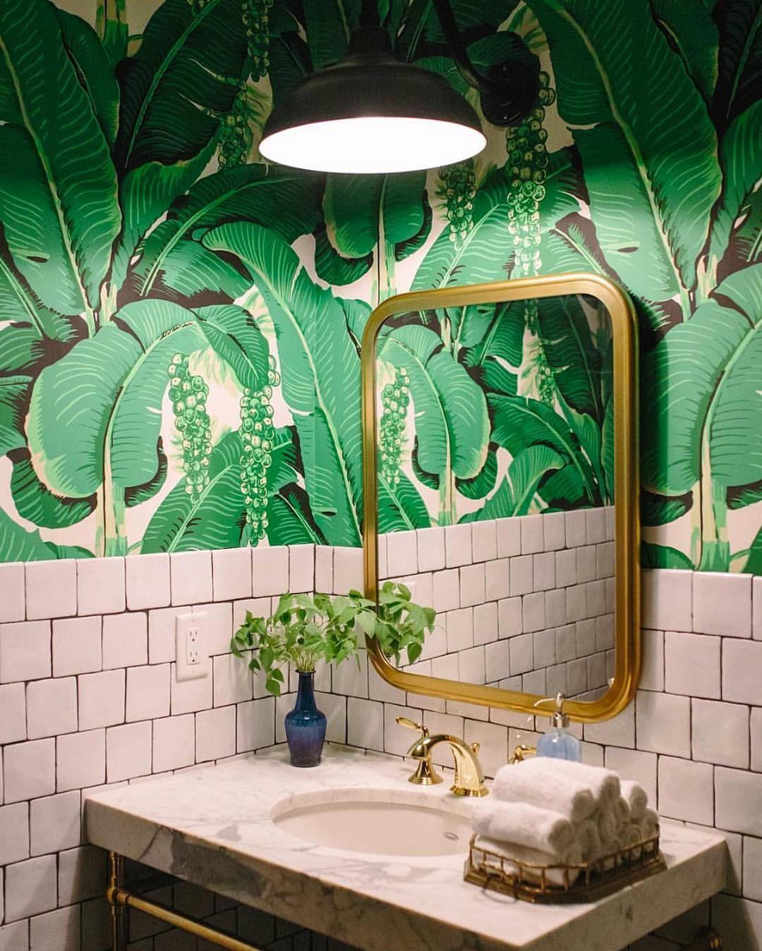 Pingl par datcha inspire d coration sur s lles 2 bain ba os verdes decorar ba os et - Salle de bain tropicale ...