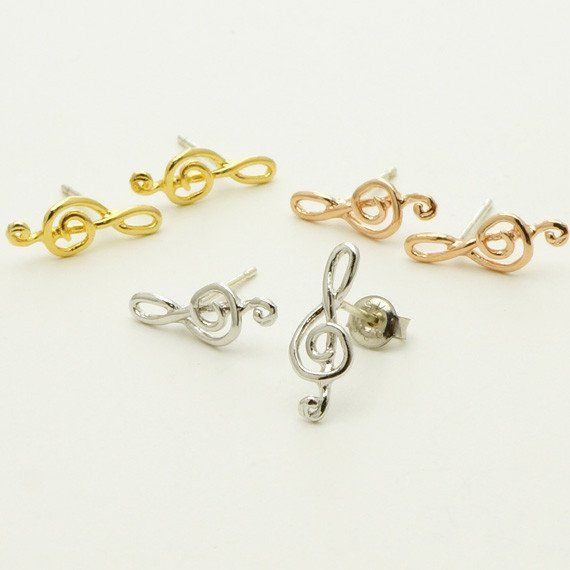 Treble Clef Musical Symbol Stud Earrings Musical Earrings Musical