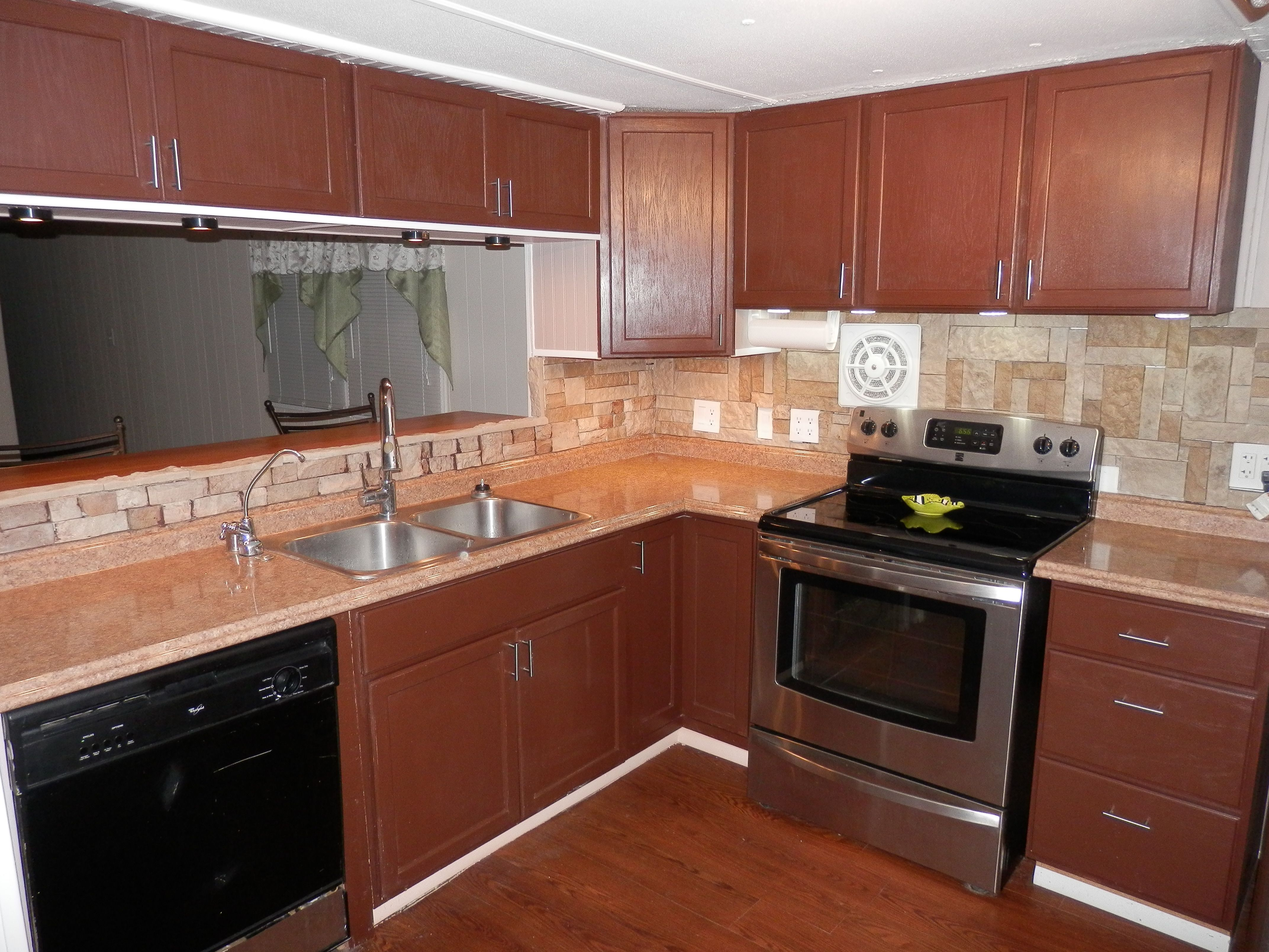 Mobile Home Kitchen Remodel Sink Spray Hose Replacement 1973 Done With 2000 Budget Prescott Remodeling Walls Before