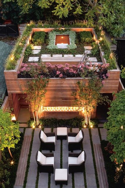 Elaborate Roof Garden Complex. Balcony U0026 Rooftop Gardens In Small City  Garden Design Ideas. Discover How To Inject Some Greenery Into Your Small  Rooftop ...