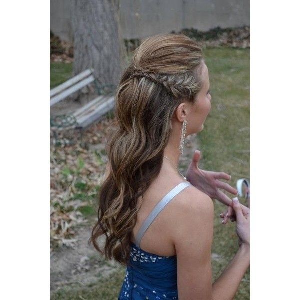 Hairstyles / I did my little sisters hair for prom...she loved it! via Polyvore