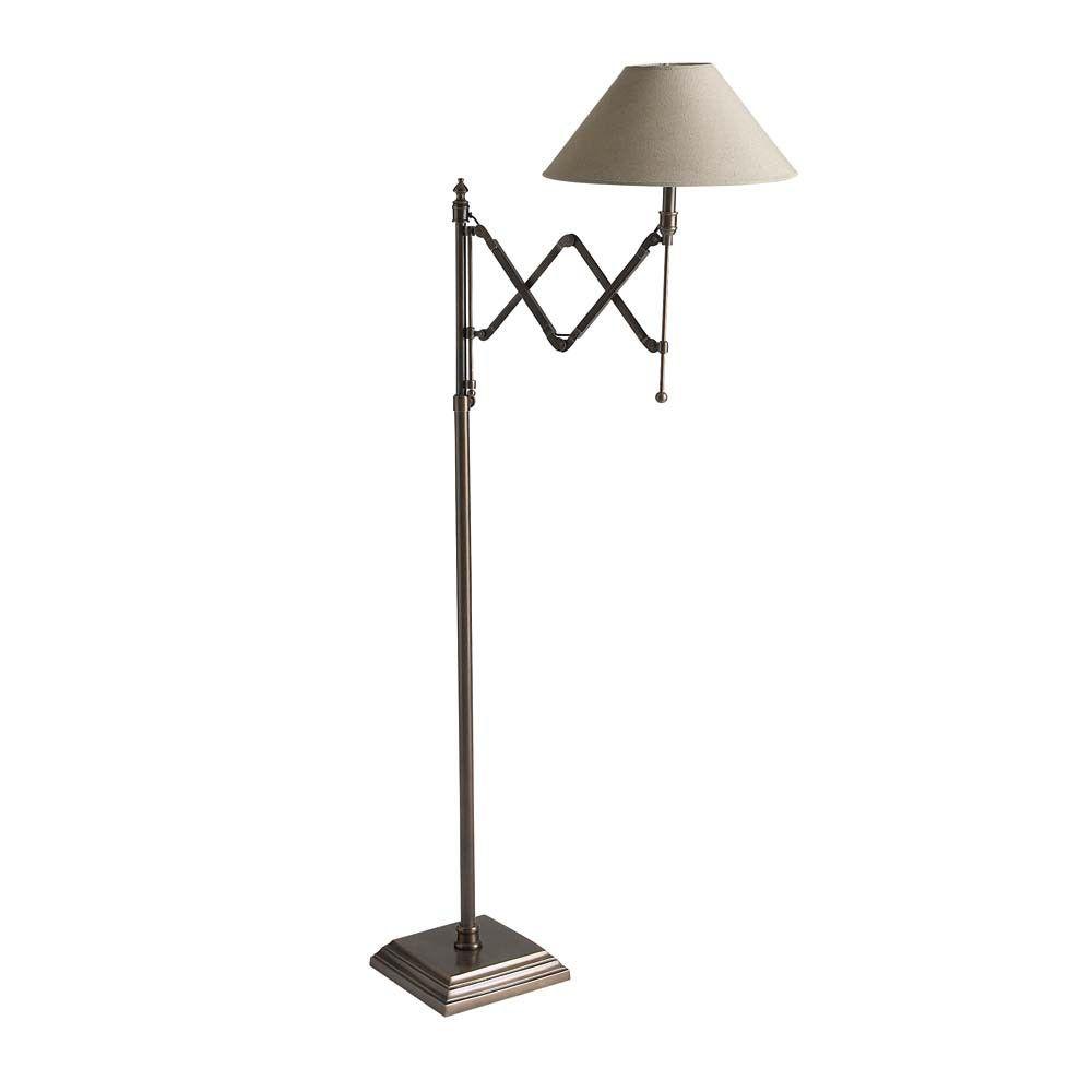 Metal And Cotton Floor Lamp In Taupe H 148cm Maisons Du Monde Stehlampe Lampen Und Leuchten Lampendesign