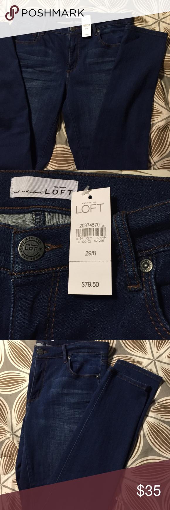 Ann Taylor Loft Jeans NWT NWT Ann Taylor Loft soft denim skinny jeans. Size 29/8 LOFT Jeans Skinny