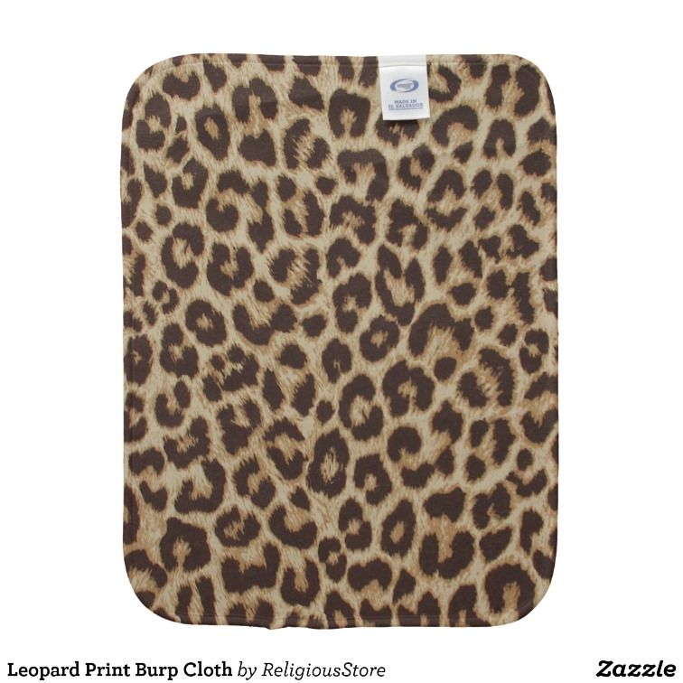 dd83ed2b65 Shop Leopard Print Baby Burp Cloth created by ReligiousStore.
