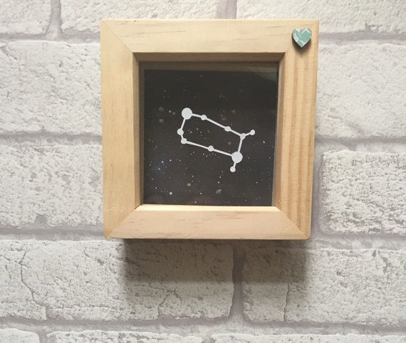 Zodiac constellation framed papercut art Gemini zodiac by KPCuts