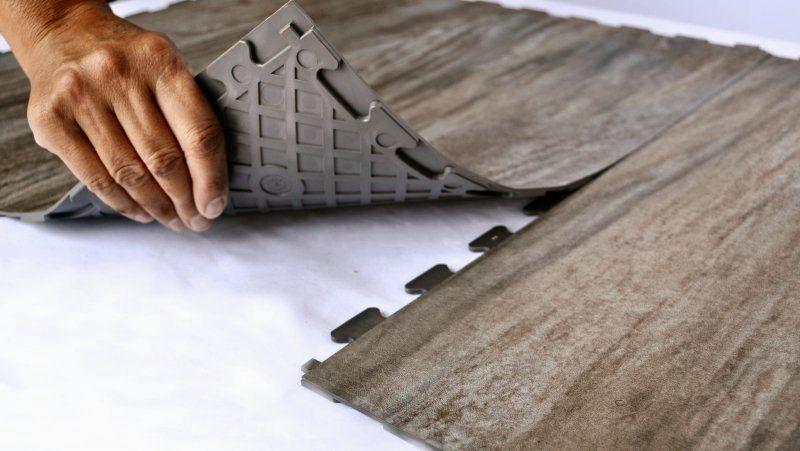 Perfection Floor Tile Loose Lay Interlocking Tiles Wood Grain Series