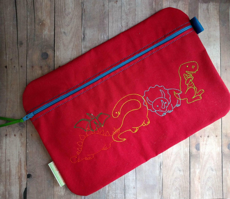 Dinosaur Zipper Bag