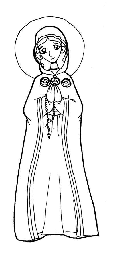 MARÍA ROSA MÍSTICA para pintar. | Virgen María | Pinterest
