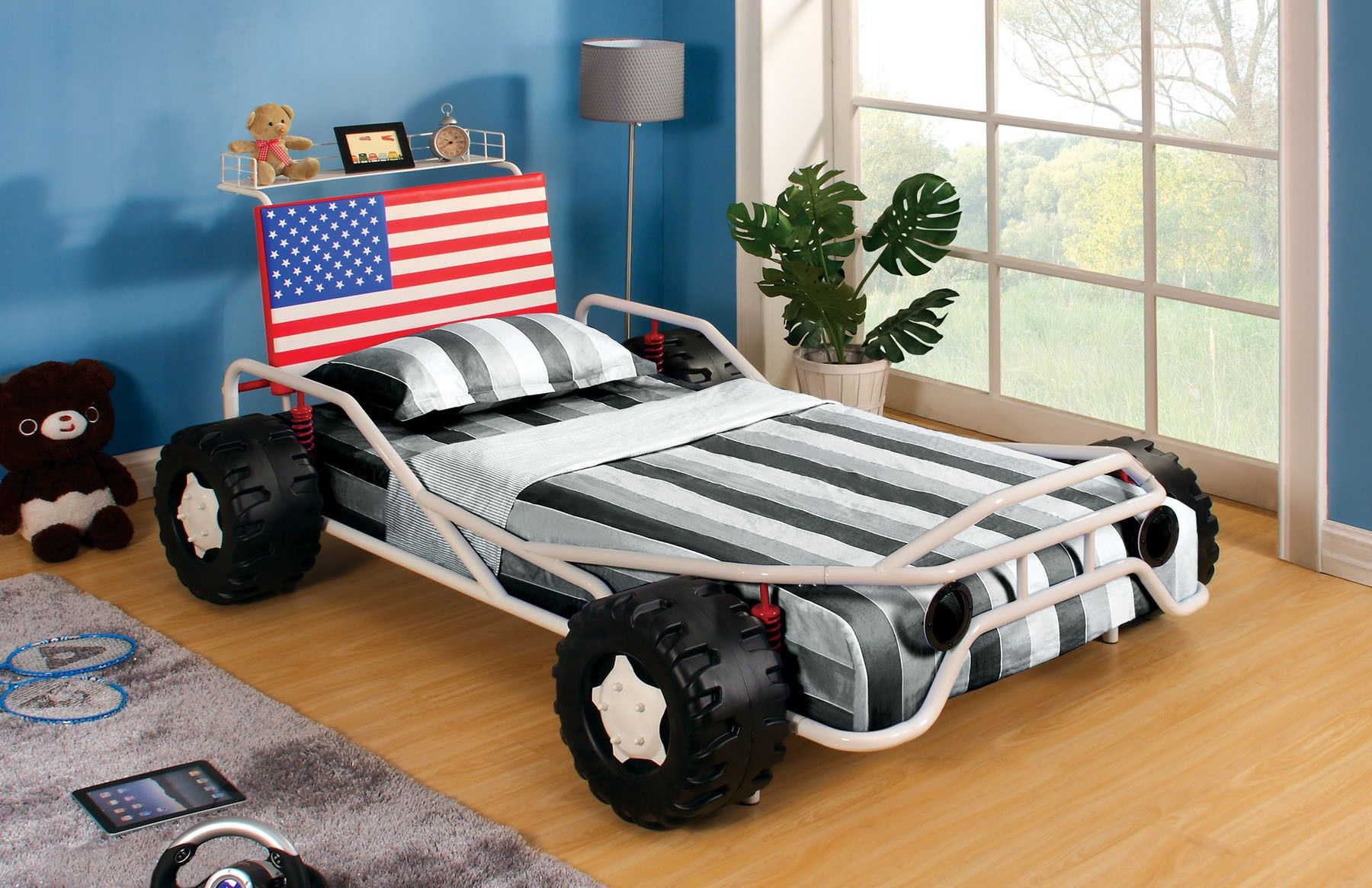 Freedom Racer Collection 7765 Twin Bed Frame | Habitación juvenil ...