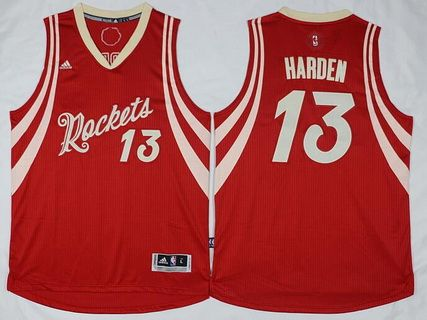 b7a567c5a6b Mens Houston Rockets 13 James Harden Revolution 30 Swingman 2015 Christmas  Day Red Jersey ...