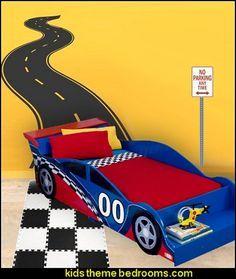 Road Track Wall Decal Car Theme Beds Quarto De Carro Ideias Quarto De Menino Decoracao Quarto Menina