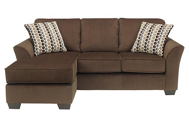 Brown chaise lounge with couch for your living room furniture View 2