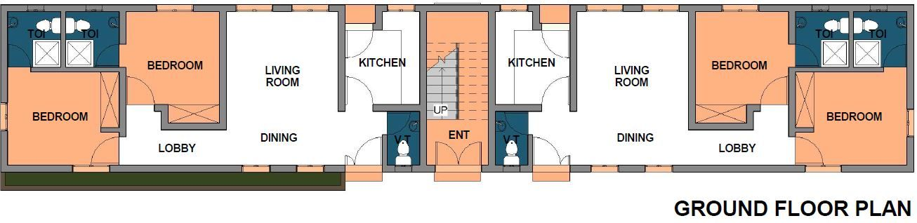 Building Plan Of A 2 Bedroom Block Of 4 Flats Need
