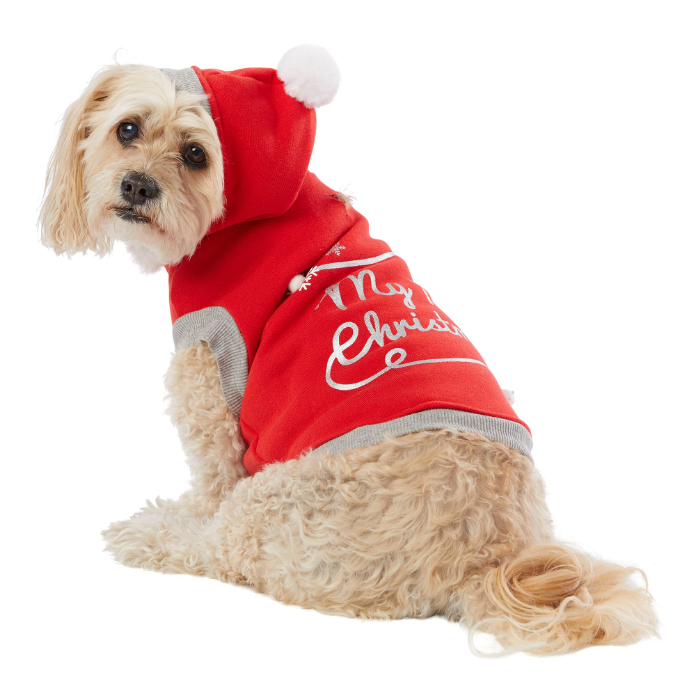 Merry Bright Holiday My First Christmas Pet Hoodie Dog Sweaters Coats Petsmart Dog Sweaters Dog Coats Pet Holiday