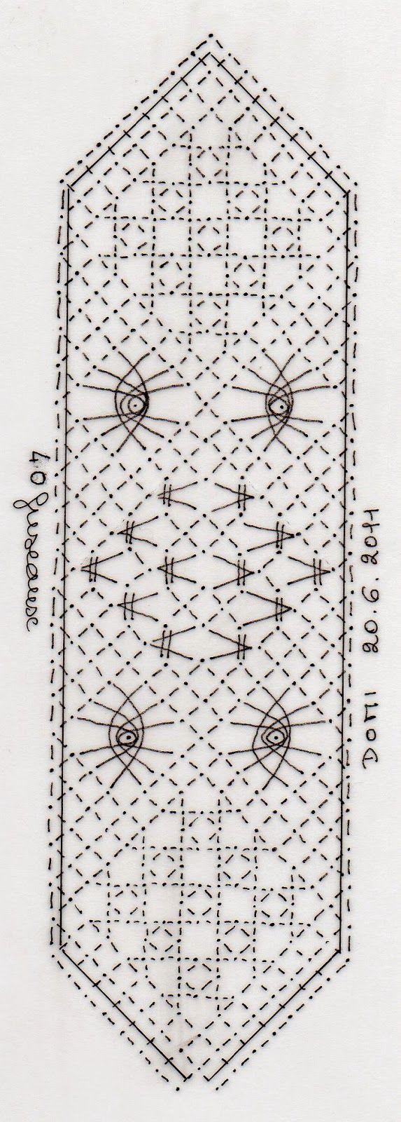 Dominique vous propose un marque page avec diff rents - Modeles gratuits de grilles de dentelles aux fuseaux ...