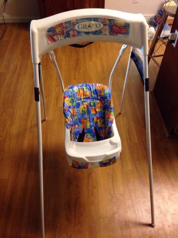 Graco Swing Late 1990 S With Images Baby Swings Graco Baby