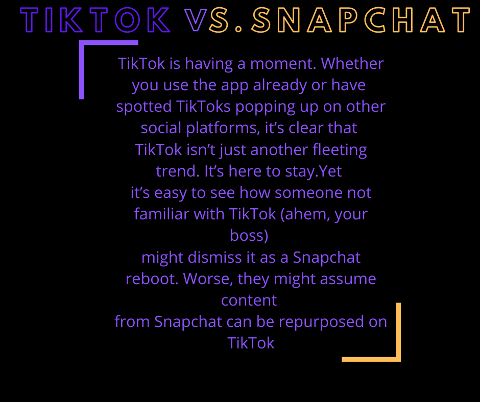 Tiktok Vs Snapchat Digital Marketing Solutions Marketing Solution Digital Marketing Agency