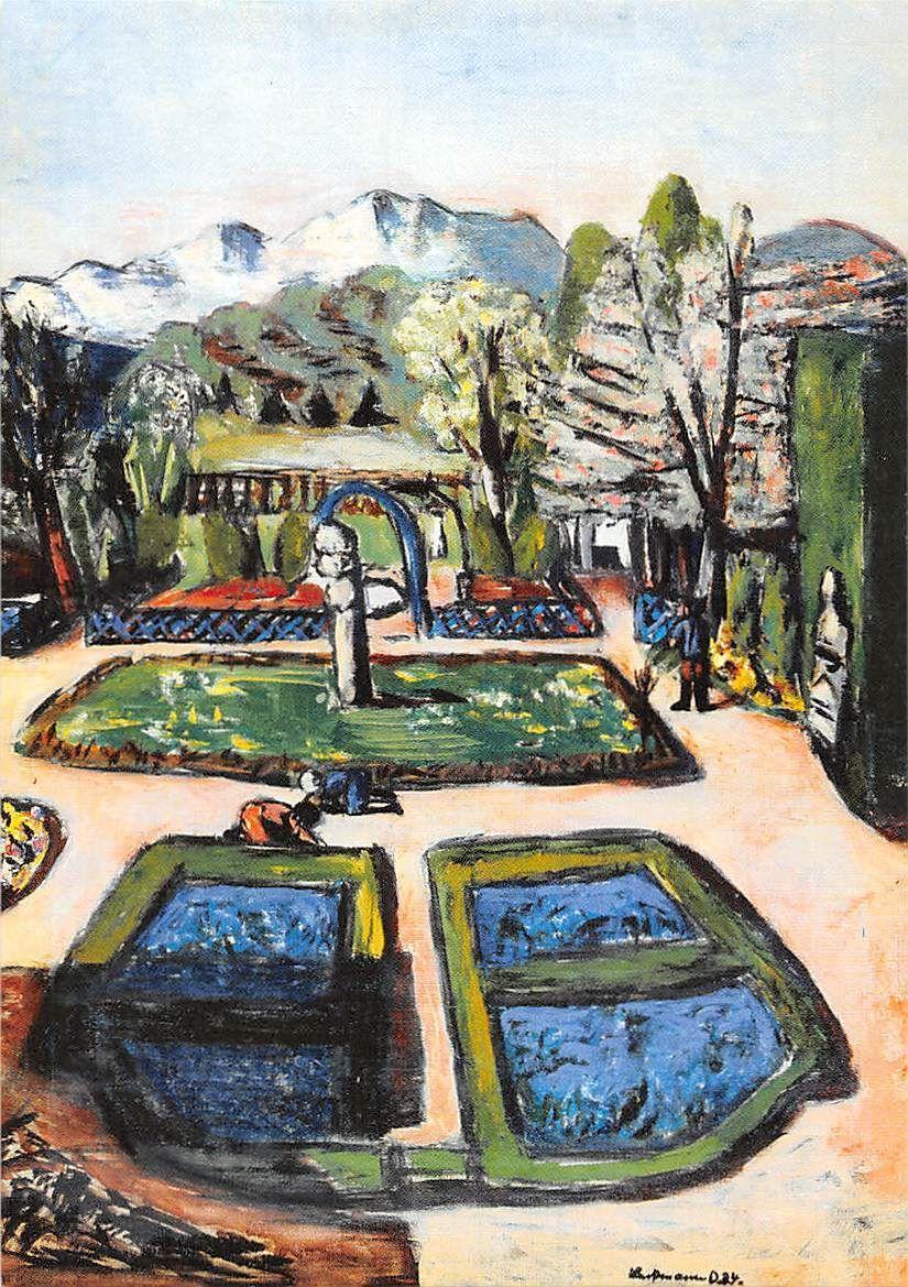 Außergewöhnlich Max Beckmann   Garten Landschaft Im Frühjahr Mit Bergen