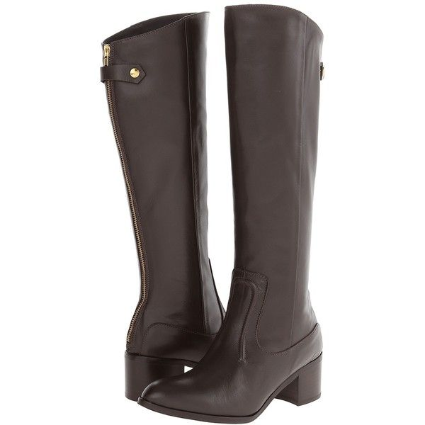 Charles by Charles David Ramu (Dark Brown Leather) Women's Zip Boots ($198) ❤…
