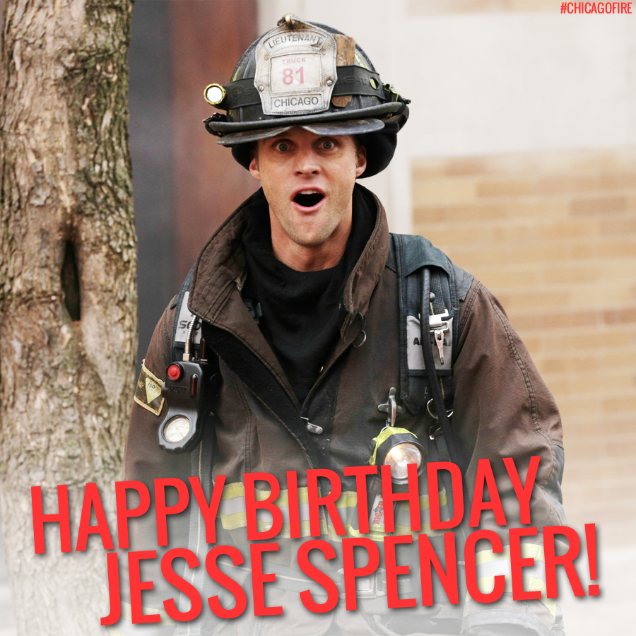 Surprise! Wishing you a magnificent birthday Jesse Spencer! #ChicagoFire #TeamCasey