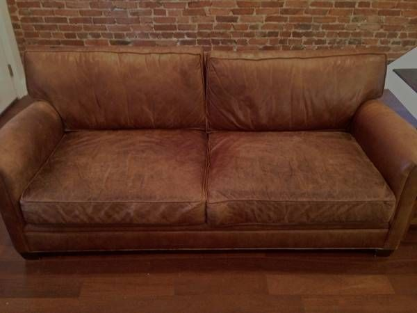 Pottery Barn Mitchell Gold Leather Couch Google Search In