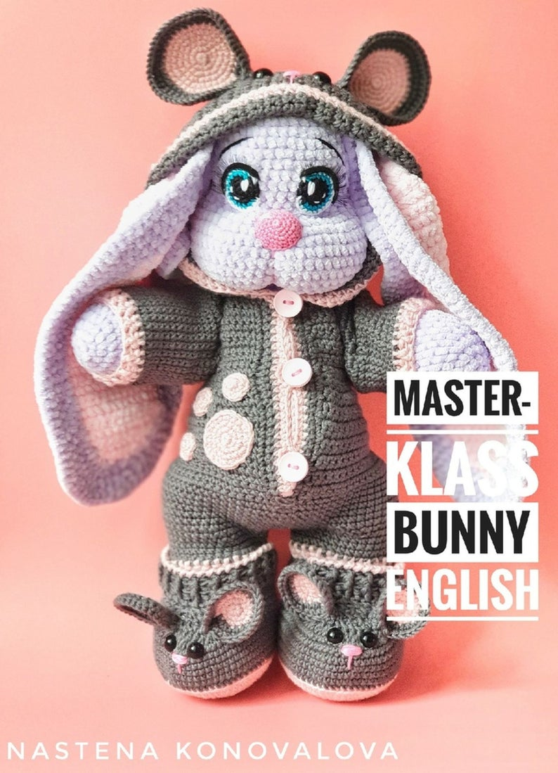 Crochet Pattern Bunny english, Crochet Amigurumi Pattern PDF file