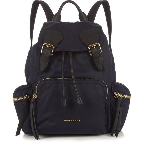 Burberry Nylon backpack (€985) ❤ liked on Polyvore featuring bags, backpacks, knapsack bag, navy bag, burberry bags, backpack bags and navy blue backpack