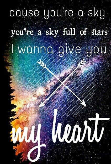 By @demonelsa A Sky Full of Stars by Coldplay. >> YOU DID AN AMAZING JOB HONEY